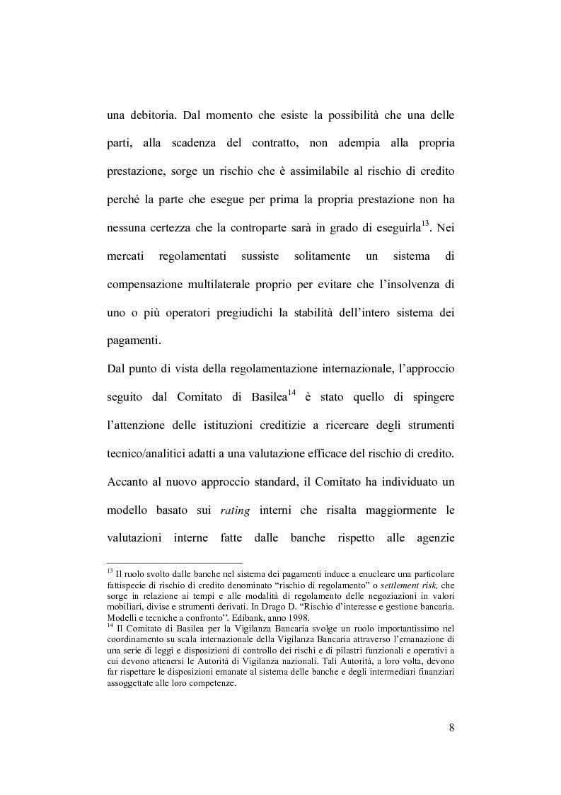 Anteprima della tesi: Rischio operativo e rischio di credito nell'attività bancaria, Pagina 12