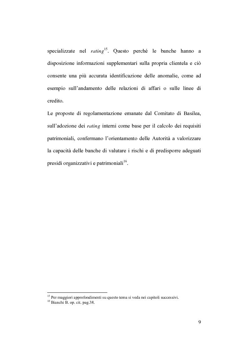 Anteprima della tesi: Rischio operativo e rischio di credito nell'attività bancaria, Pagina 13