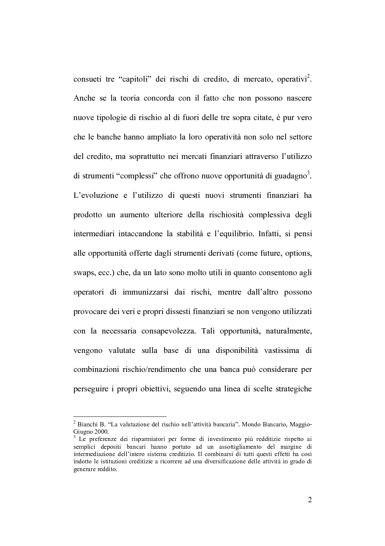 Anteprima della tesi: Rischio operativo e rischio di credito nell'attività bancaria, Pagina 6