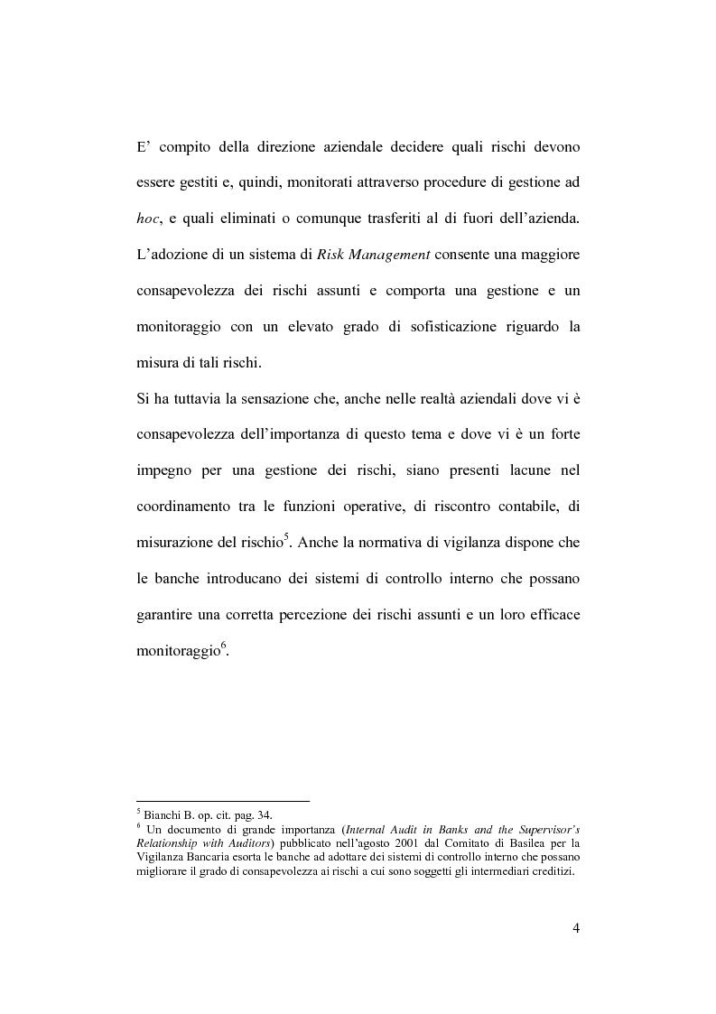 Anteprima della tesi: Rischio operativo e rischio di credito nell'attività bancaria, Pagina 8