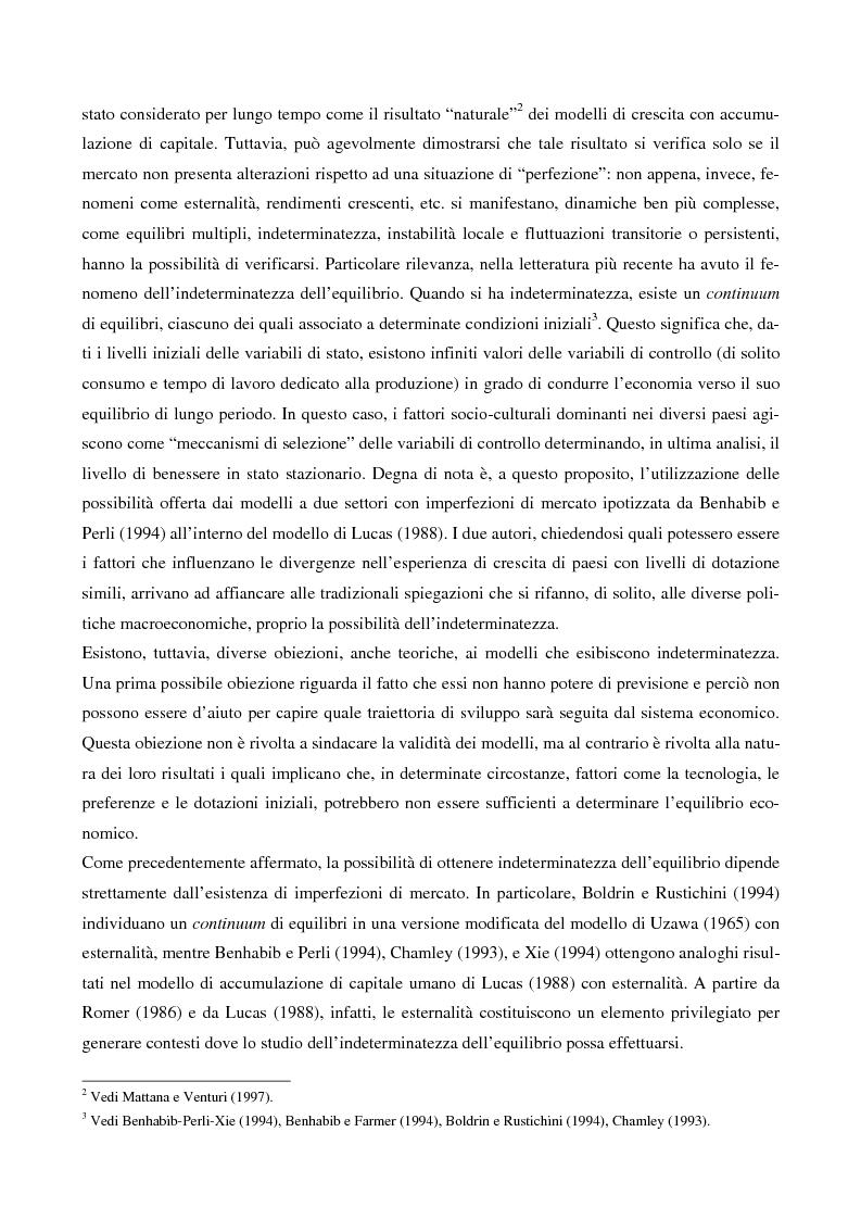 Anteprima della tesi: Point in time tecnologies e indeterminatezza dell'equilibrio, Pagina 2