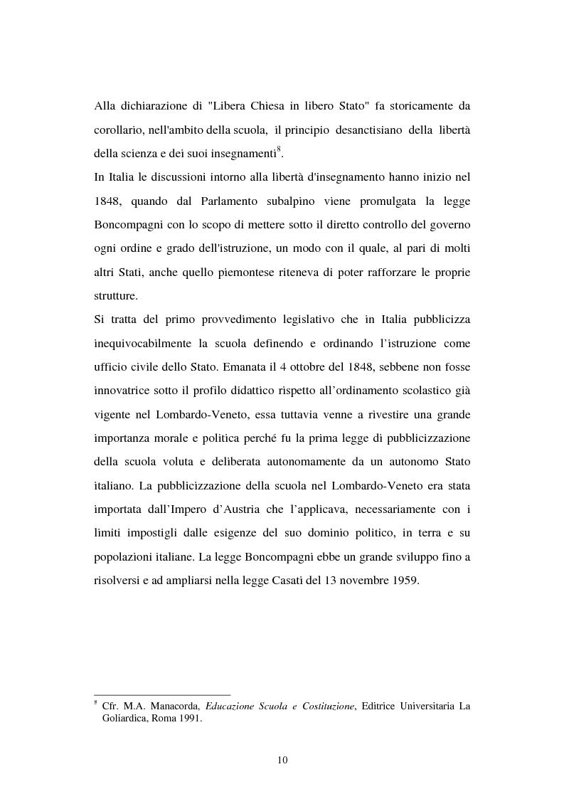 Anteprima della tesi: Libertà di scuola. Scuola di libertà. Scuola pubblica e scuola privata nel dibattito dell'Assemblea Costituente, Pagina 10