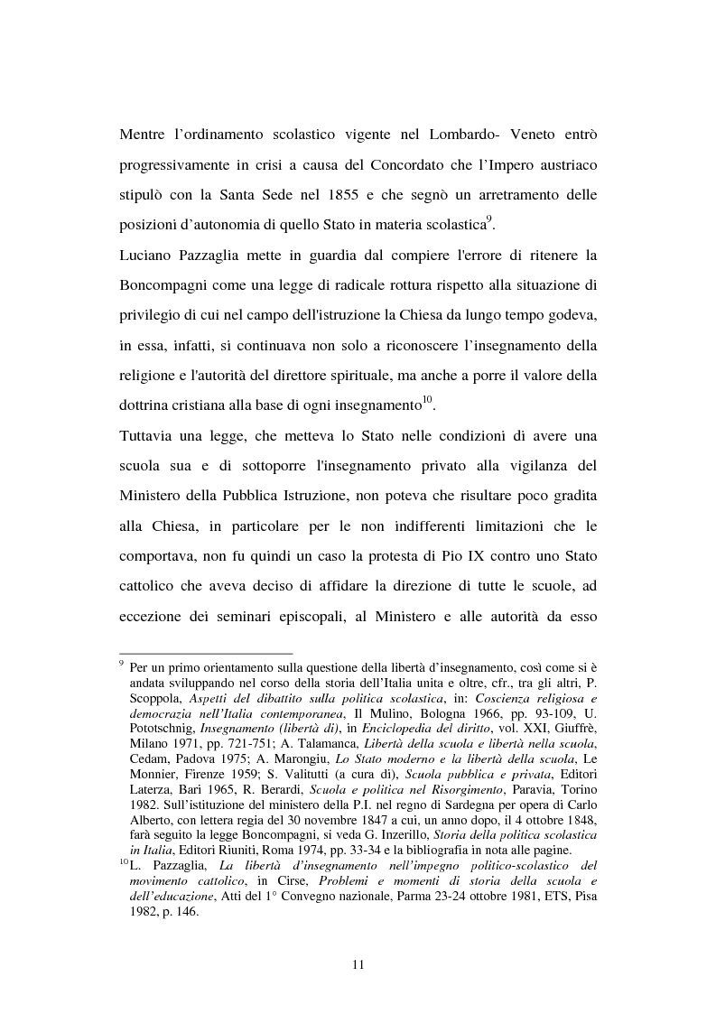 Anteprima della tesi: Libertà di scuola. Scuola di libertà. Scuola pubblica e scuola privata nel dibattito dell'Assemblea Costituente, Pagina 11