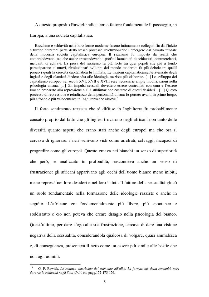 Anteprima della tesi: Da Frederick Douglass a Malcolm X: letteratura e identità, Pagina 8