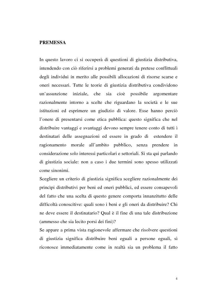 Anteprima della tesi: Filosofie della giustizia e azione affermativa, Pagina 1
