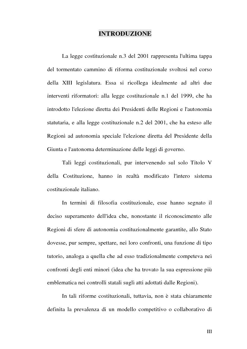 Anteprima della tesi: Principio di sussidiarietà e sistema amministrativo nel nuovo quadro costituzionale (articolo 4 Legge Costituzionale 18 ottobre 2001 n° 3), Pagina 1