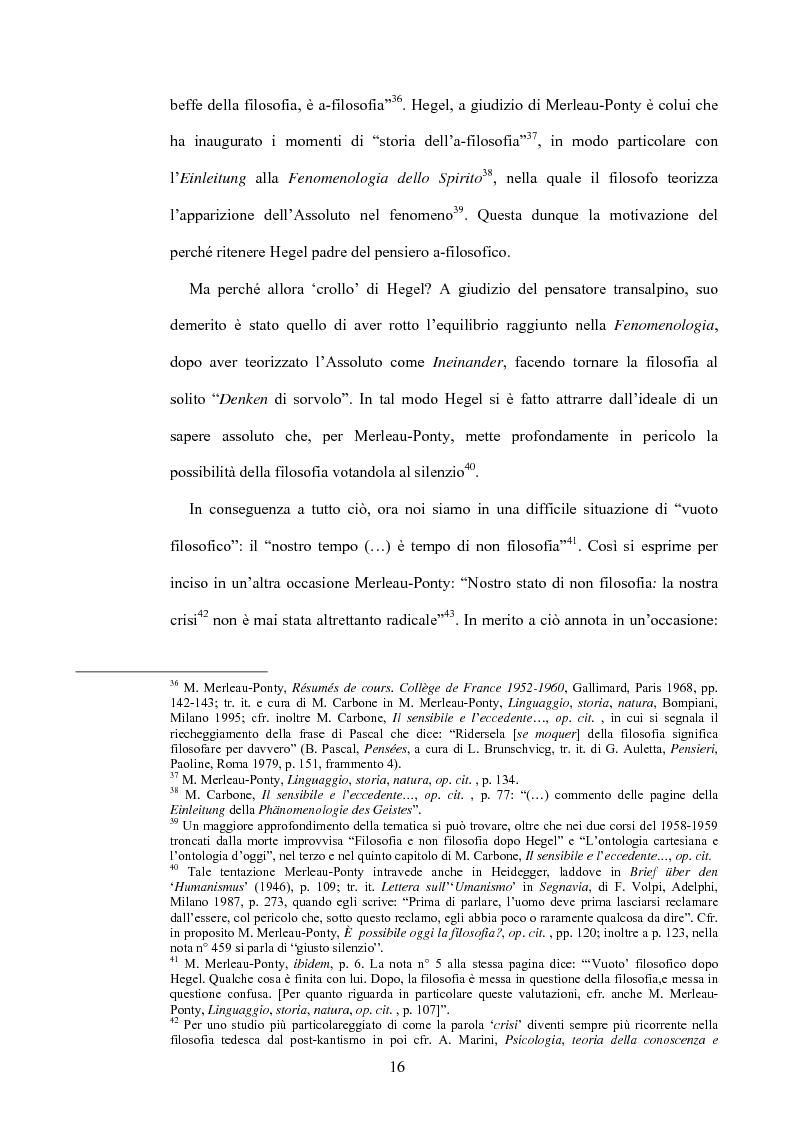 Anteprima della tesi: 'La filosofia oggi': Merleau-Ponty a partire da Husserl e da Heidegger nel corso dal Collège de France del 1958-59, Pagina 10