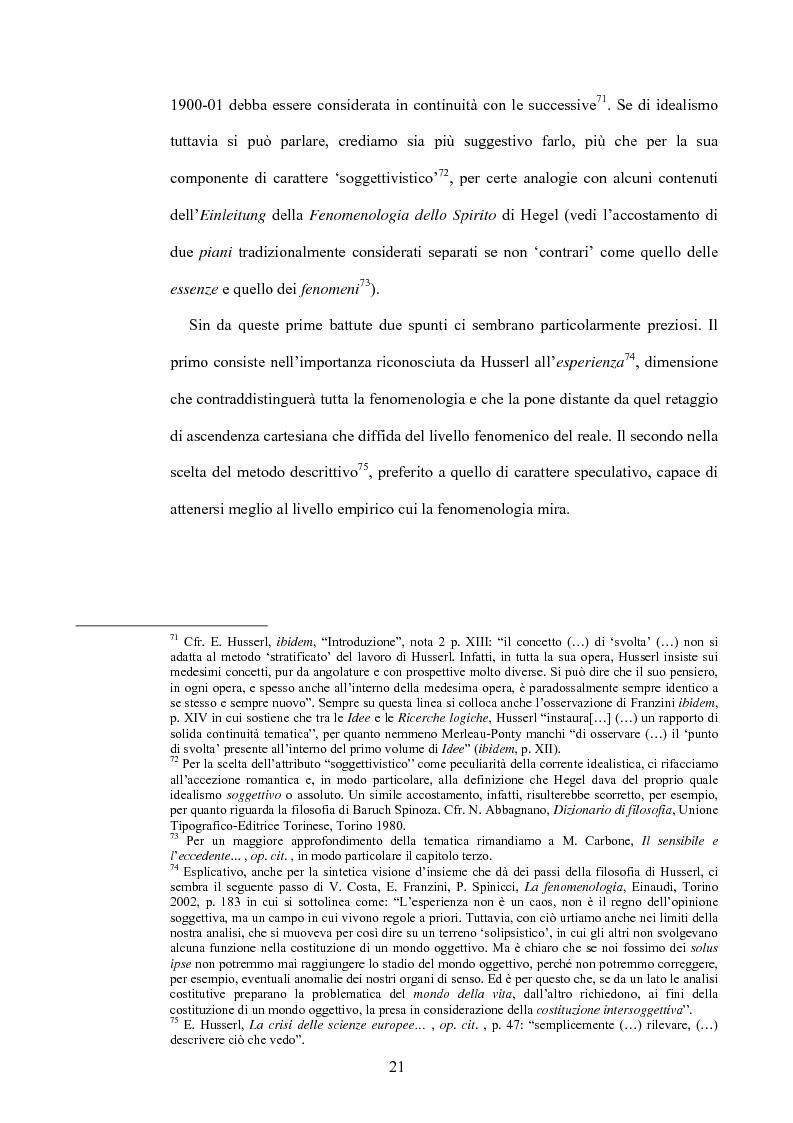 Anteprima della tesi: 'La filosofia oggi': Merleau-Ponty a partire da Husserl e da Heidegger nel corso dal Collège de France del 1958-59, Pagina 15