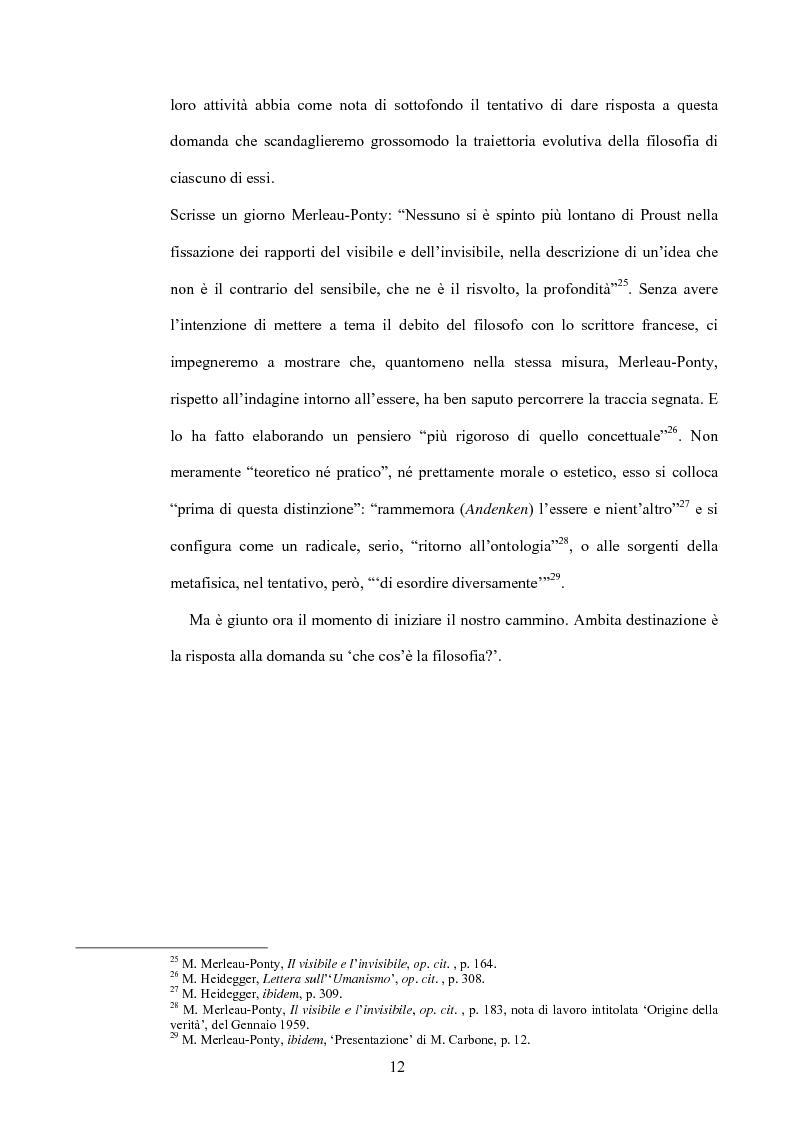 Anteprima della tesi: 'La filosofia oggi': Merleau-Ponty a partire da Husserl e da Heidegger nel corso dal Collège de France del 1958-59, Pagina 6