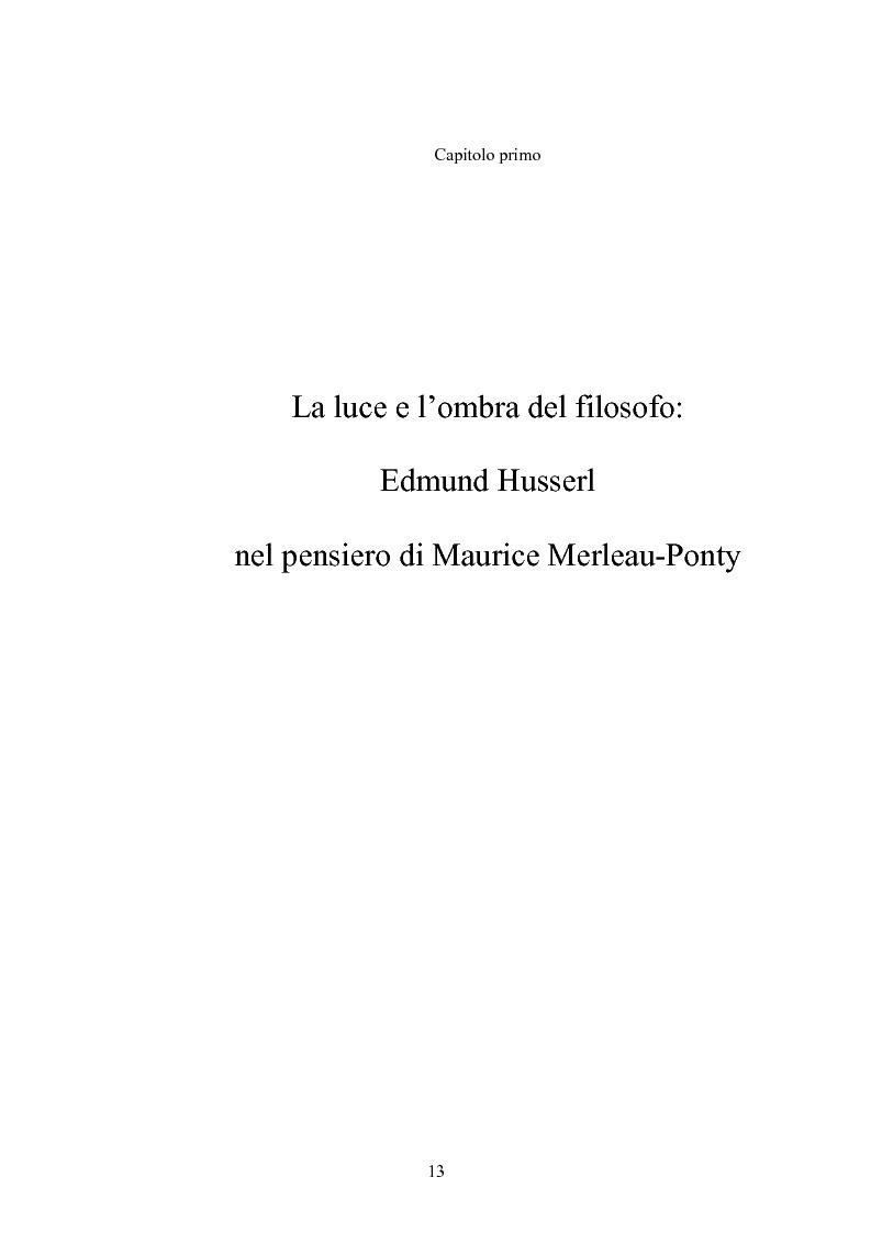 Anteprima della tesi: 'La filosofia oggi': Merleau-Ponty a partire da Husserl e da Heidegger nel corso dal Collège de France del 1958-59, Pagina 7