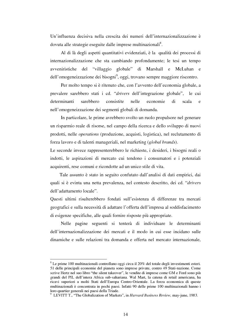 Anteprima della tesi: Attrattività dei mercati internazionali:scelta del paese obiettivo e strategie di ingresso.Il caso Landqart, Pagina 10