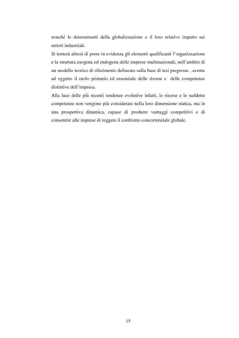 Anteprima della tesi: Attrattività dei mercati internazionali:scelta del paese obiettivo e strategie di ingresso.Il caso Landqart, Pagina 11
