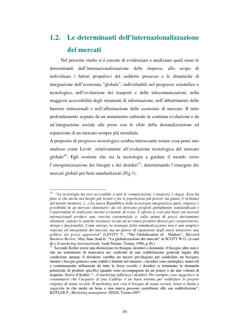 Anteprima della tesi: Attrattività dei mercati internazionali:scelta del paese obiettivo e strategie di ingresso.Il caso Landqart, Pagina 12