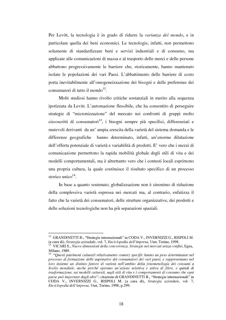 Anteprima della tesi: Attrattività dei mercati internazionali:scelta del paese obiettivo e strategie di ingresso.Il caso Landqart, Pagina 14