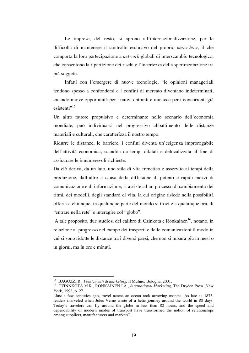 Anteprima della tesi: Attrattività dei mercati internazionali:scelta del paese obiettivo e strategie di ingresso.Il caso Landqart, Pagina 15