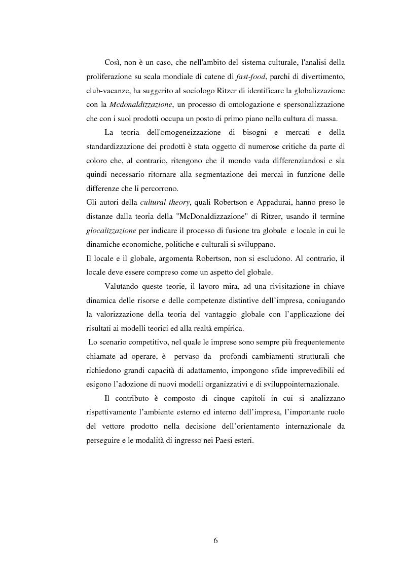 Anteprima della tesi: Attrattività dei mercati internazionali:scelta del paese obiettivo e strategie di ingresso.Il caso Landqart, Pagina 2