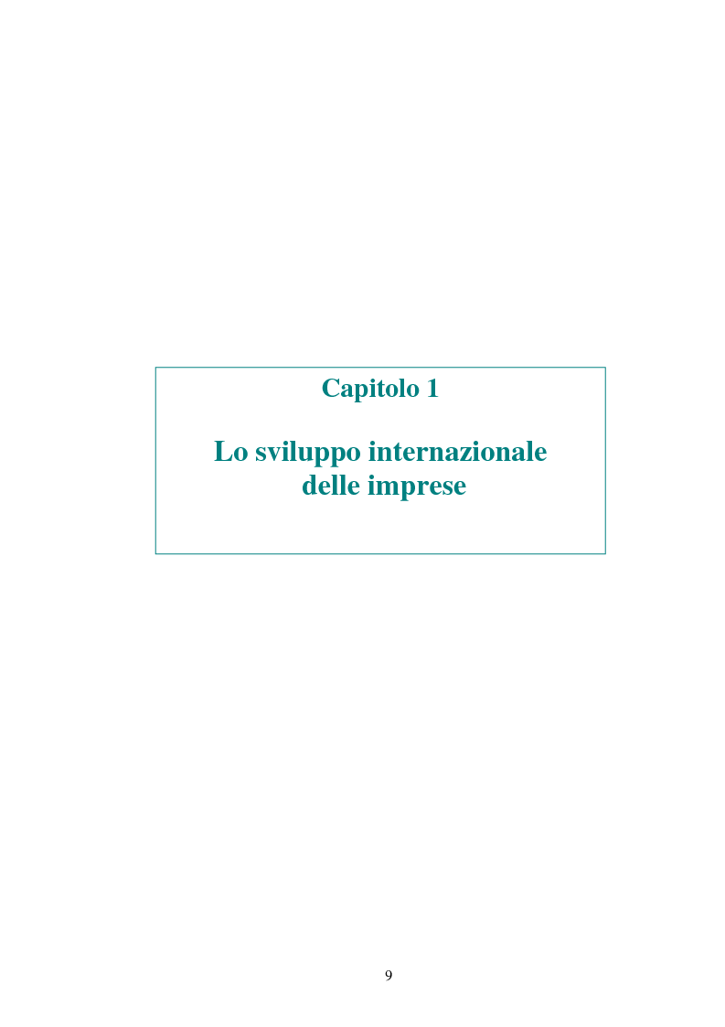 Anteprima della tesi: Attrattività dei mercati internazionali:scelta del paese obiettivo e strategie di ingresso.Il caso Landqart, Pagina 5