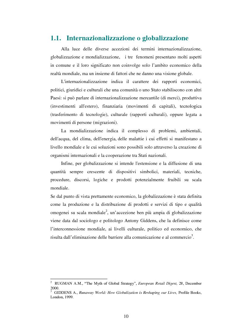 Anteprima della tesi: Attrattività dei mercati internazionali:scelta del paese obiettivo e strategie di ingresso.Il caso Landqart, Pagina 6