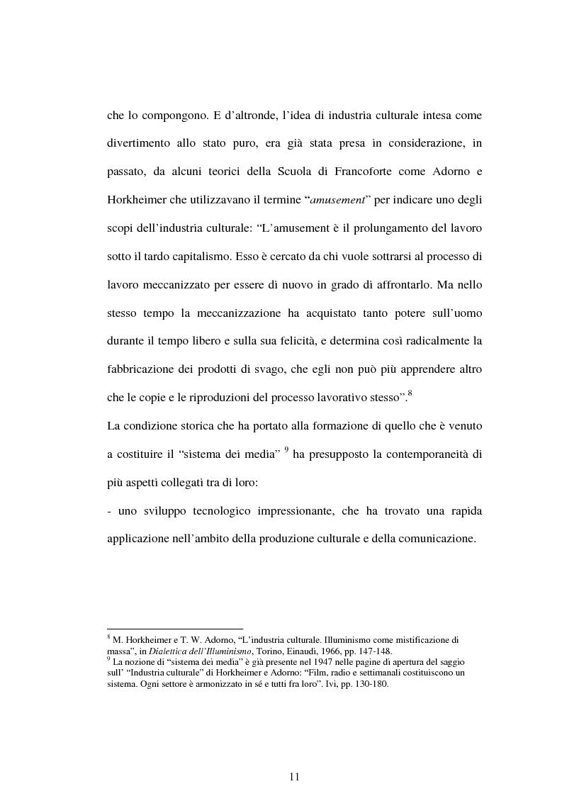 Anteprima della tesi: La comunicazione ''nel pallone''. Il calcio come motore del successo mediale., Pagina 11