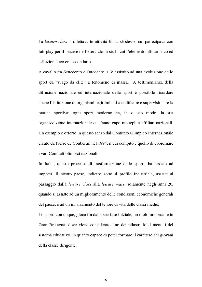 Anteprima della tesi: La comunicazione ''nel pallone''. Il calcio come motore del successo mediale., Pagina 6
