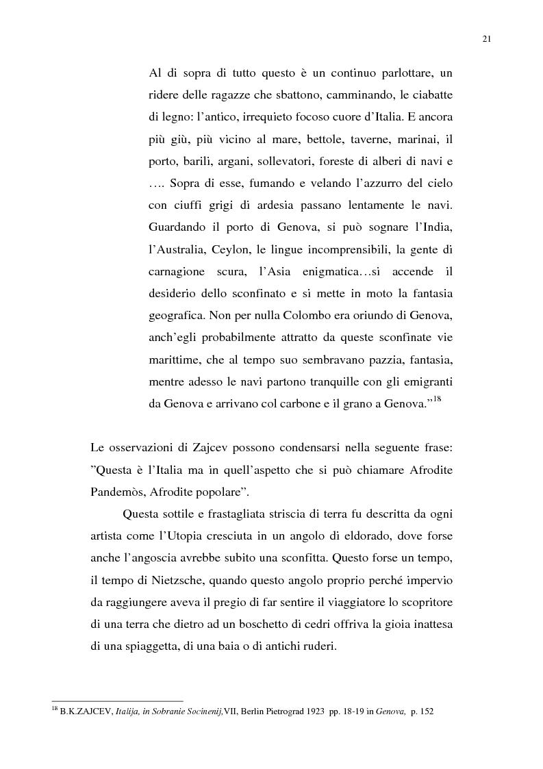 Anteprima della tesi: Nietzsche, la Liguria e Genova: i luoghi come archetipi., Pagina 14