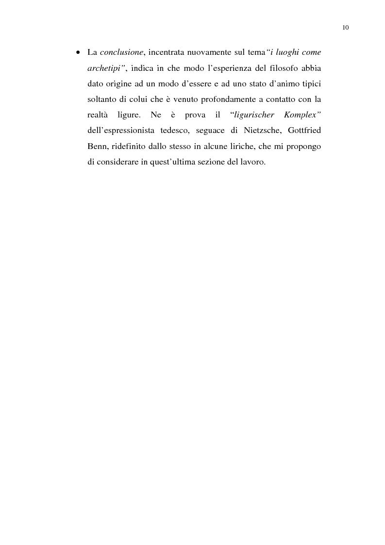 Anteprima della tesi: Nietzsche, la Liguria e Genova: i luoghi come archetipi., Pagina 3