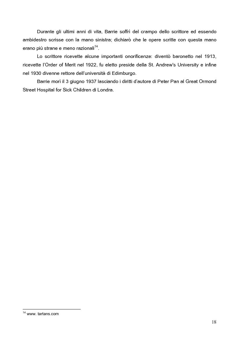 Anteprima della tesi: Peter Pan, il bambino che non voleva crescere: dalla letteratura al cinema, Pagina 15