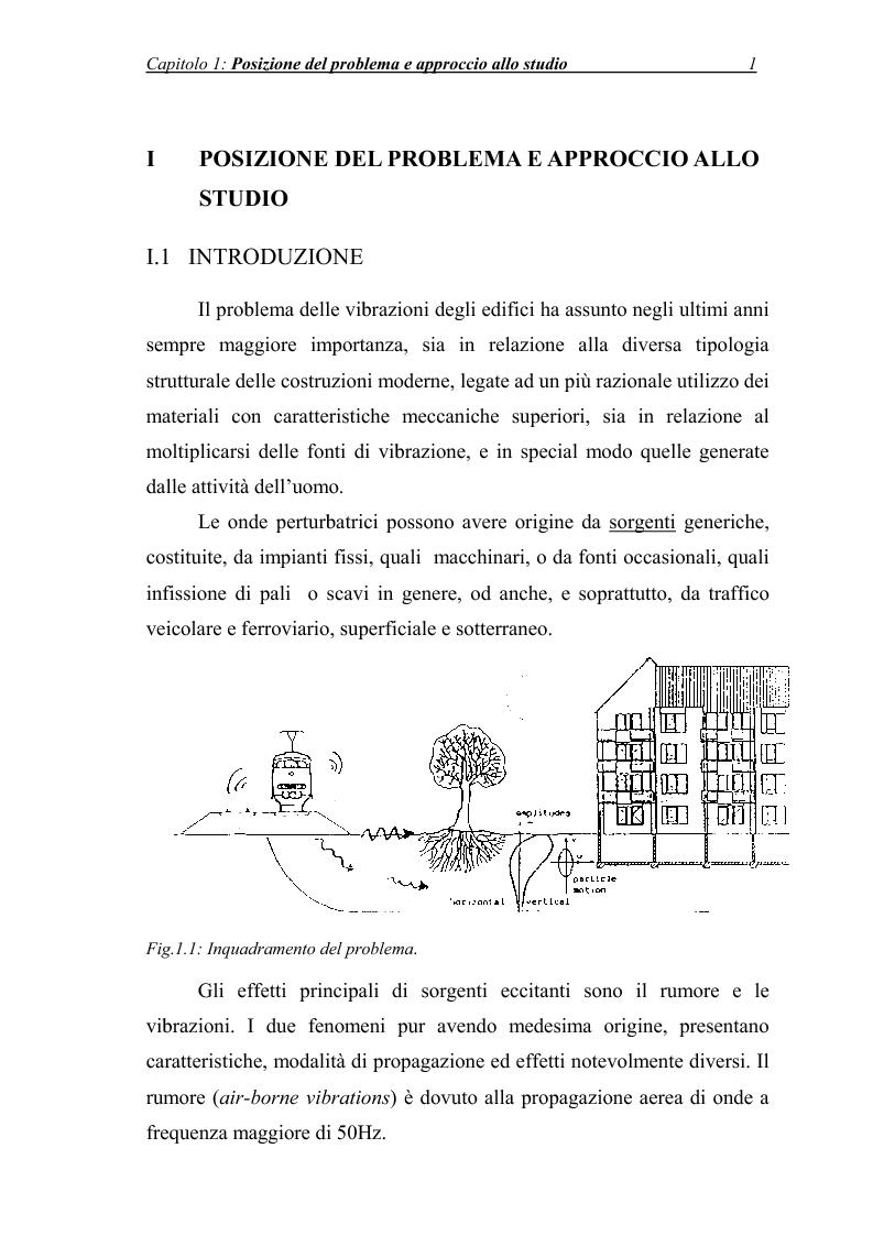 Anteprima della tesi: Vibrazioni prodotte da infrastrutture di trasporto in fase di costruzione e di esercizio, Pagina 1