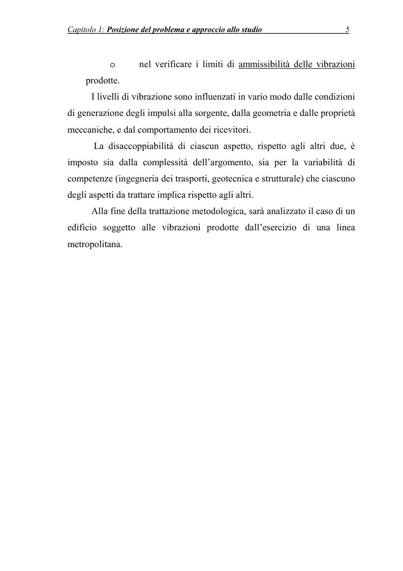 Anteprima della tesi: Vibrazioni prodotte da infrastrutture di trasporto in fase di costruzione e di esercizio, Pagina 5