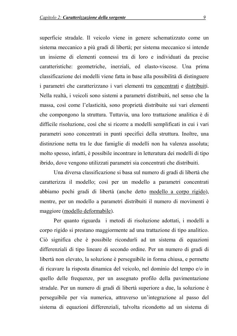 Anteprima della tesi: Vibrazioni prodotte da infrastrutture di trasporto in fase di costruzione e di esercizio, Pagina 9