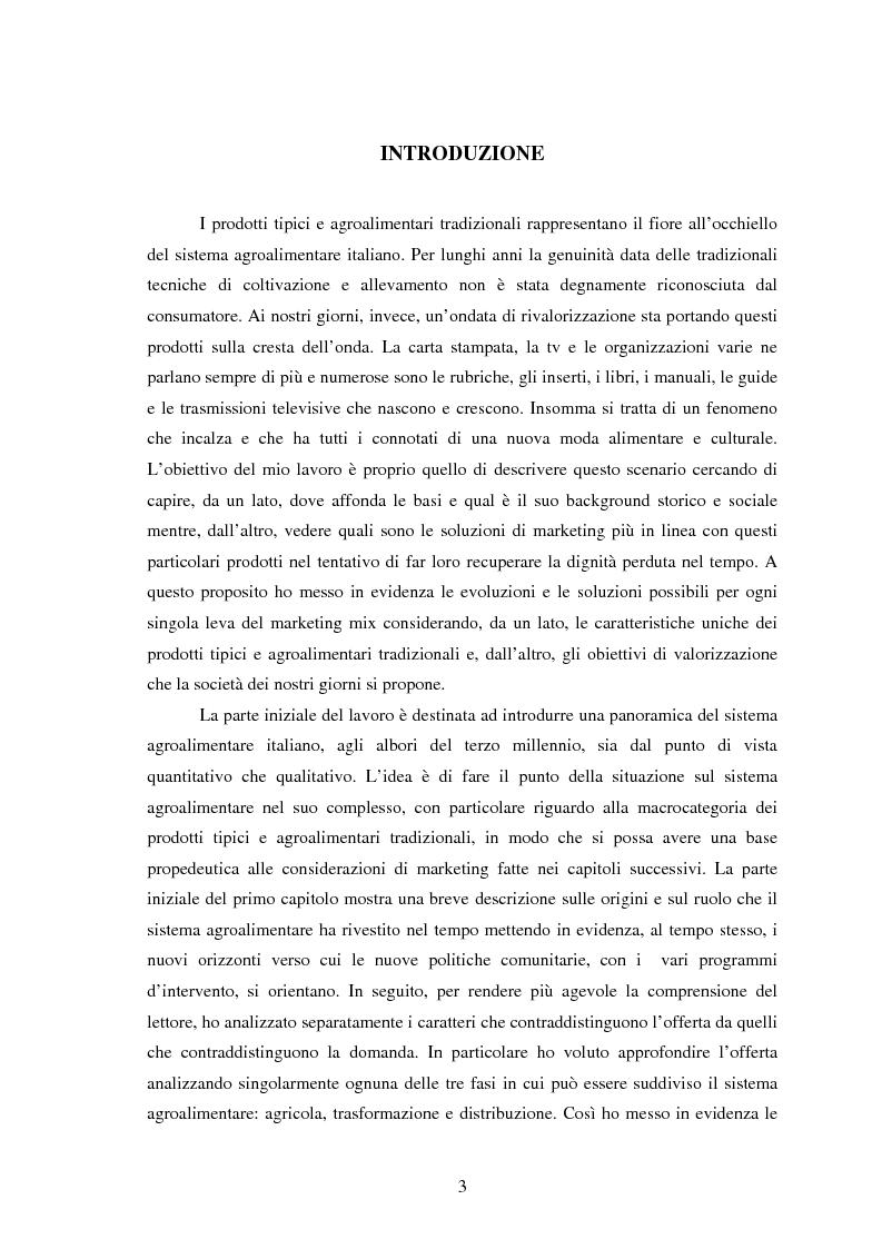 Anteprima della tesi: Significati assegnati dai consumatori ai prodotti alimentari tipici. Il caso di due Presìdi Sloow Food della Sicilia., Pagina 1
