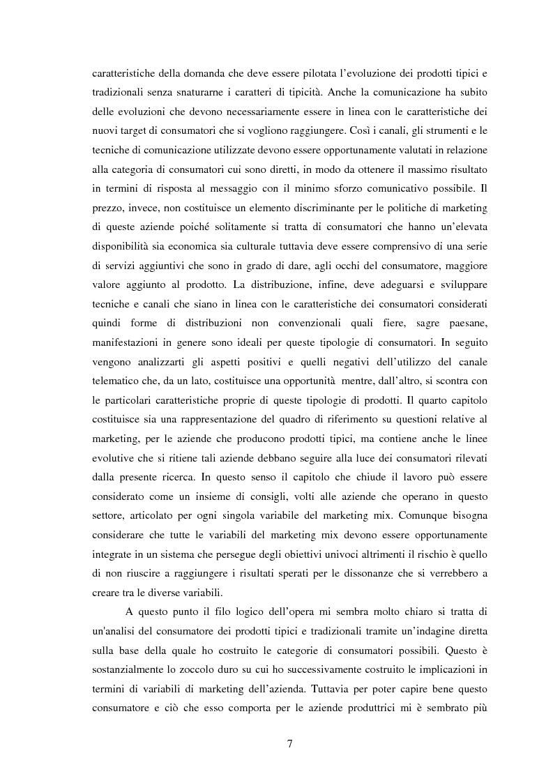 Anteprima della tesi: Significati assegnati dai consumatori ai prodotti alimentari tipici. Il caso di due Presìdi Sloow Food della Sicilia., Pagina 5