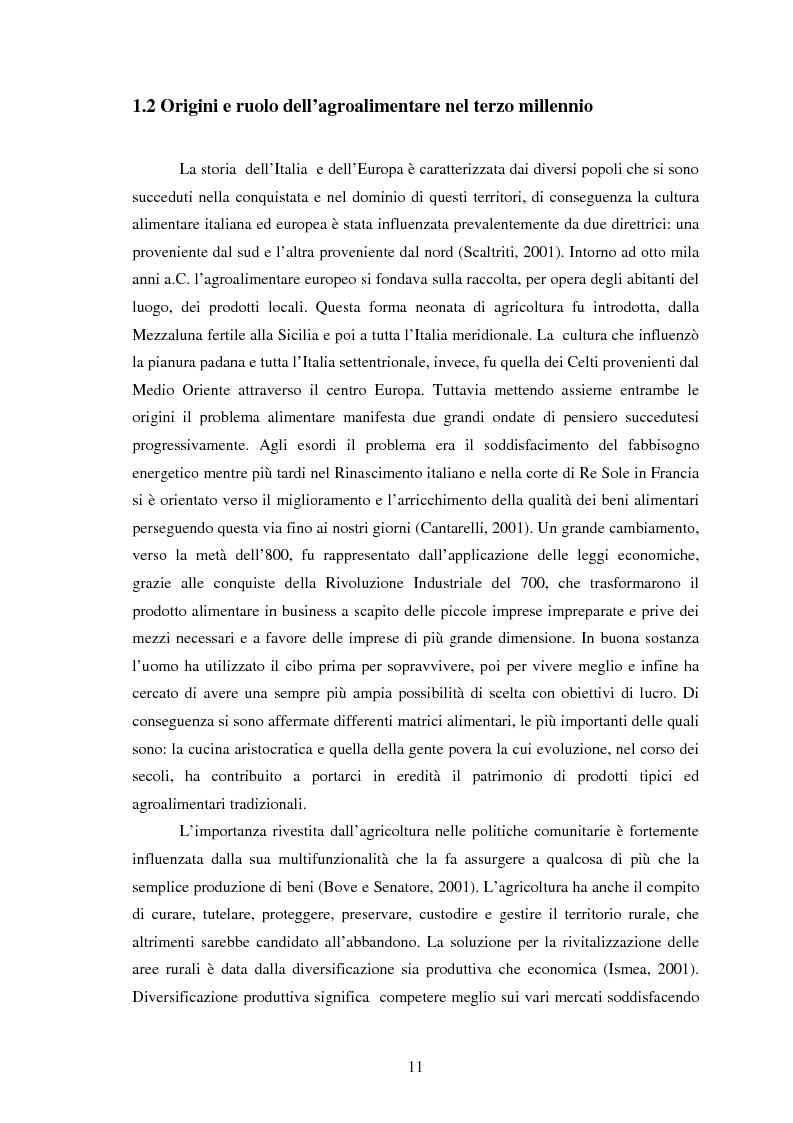 Anteprima della tesi: Significati assegnati dai consumatori ai prodotti alimentari tipici. Il caso di due Presìdi Sloow Food della Sicilia., Pagina 9