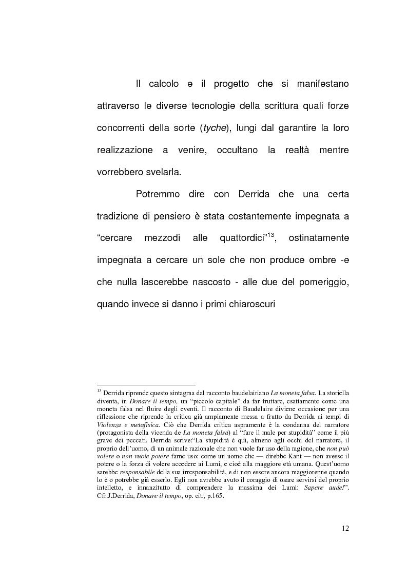 Anteprima della tesi: Etica e Scrittura: l'esperienza dell'Altro nell'opera di Jacques Derrida, Pagina 11