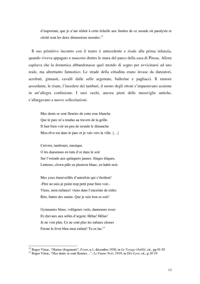 Anteprima della tesi: La mistica nuda della scena. Roger Vitrac: un uomo di teatro, Pagina 13