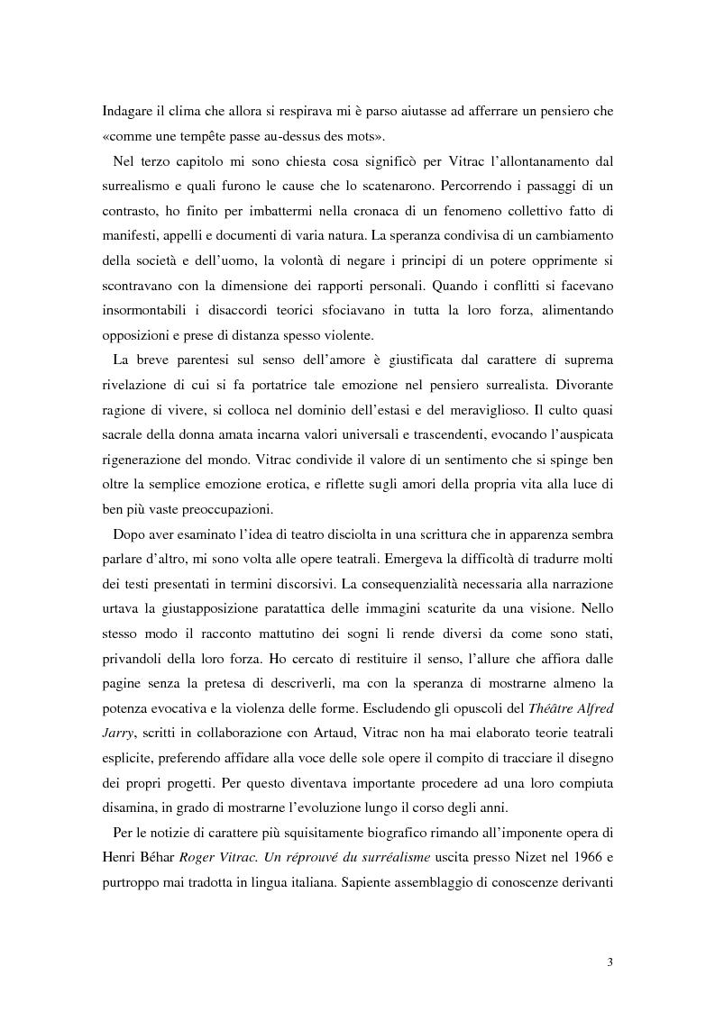 Anteprima della tesi: La mistica nuda della scena. Roger Vitrac: un uomo di teatro, Pagina 3