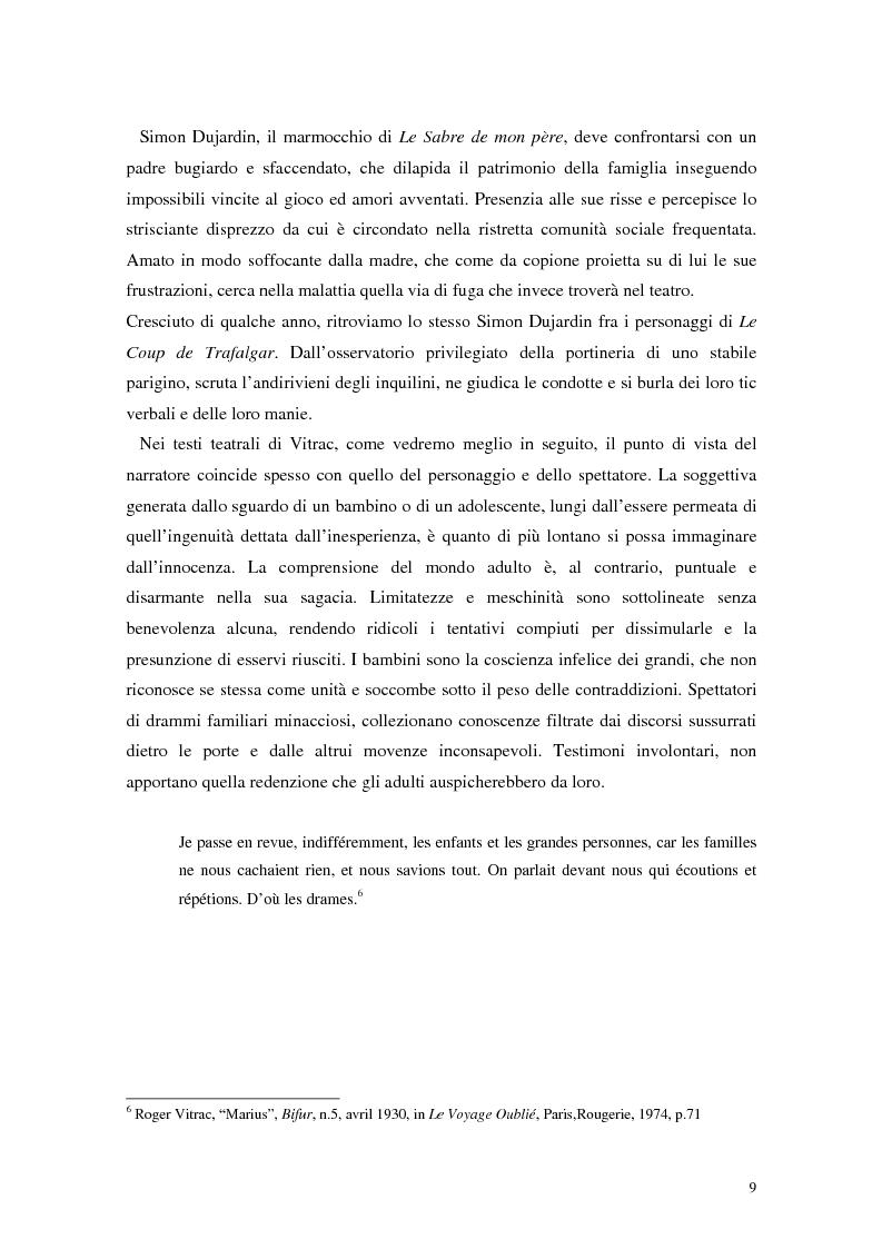 Anteprima della tesi: La mistica nuda della scena. Roger Vitrac: un uomo di teatro, Pagina 9