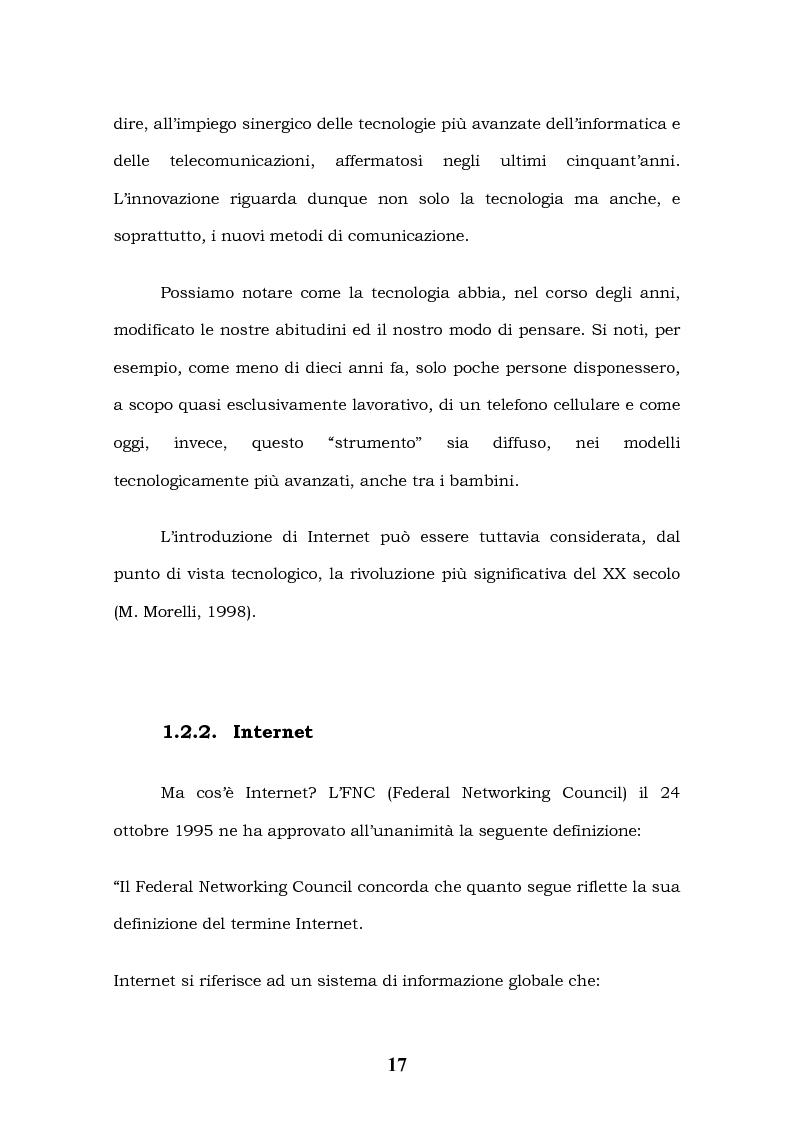 Anteprima della tesi: Tecnologie Informatiche e Internet Marketing, Pagina 13