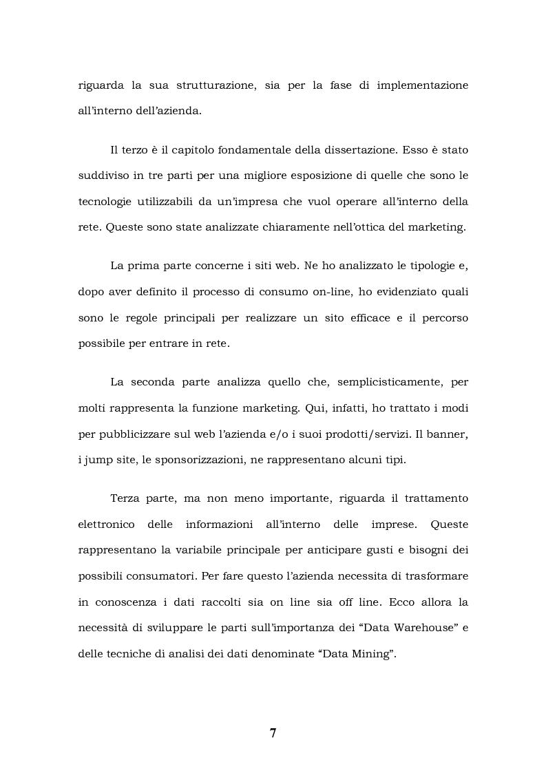 Anteprima della tesi: Tecnologie Informatiche e Internet Marketing, Pagina 3