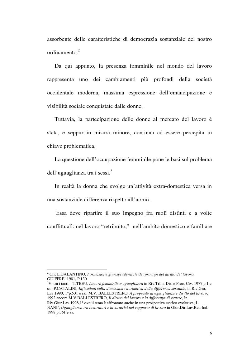 Anteprima della tesi: Profili attuali in materia di lavoro femminile, Pagina 2