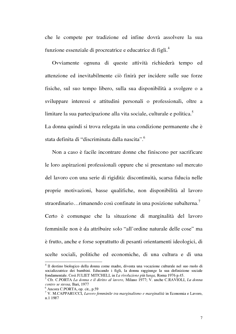 Anteprima della tesi: Profili attuali in materia di lavoro femminile, Pagina 3