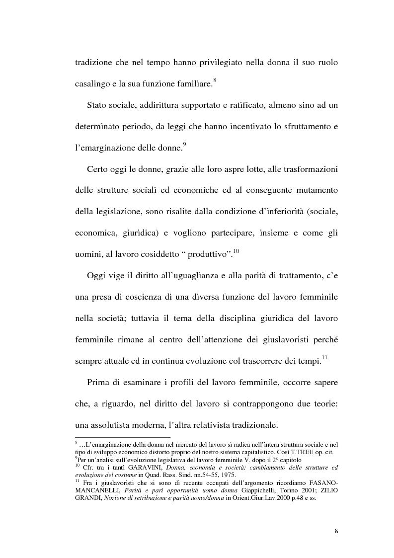 Anteprima della tesi: Profili attuali in materia di lavoro femminile, Pagina 4