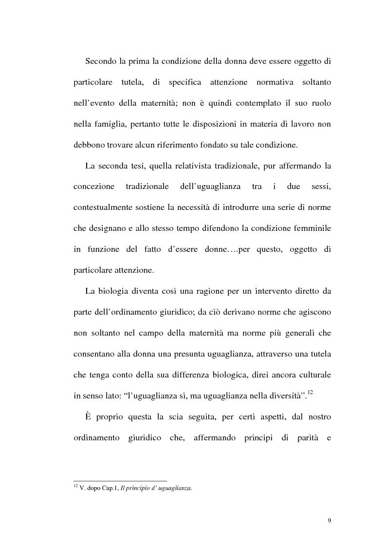 Anteprima della tesi: Profili attuali in materia di lavoro femminile, Pagina 5