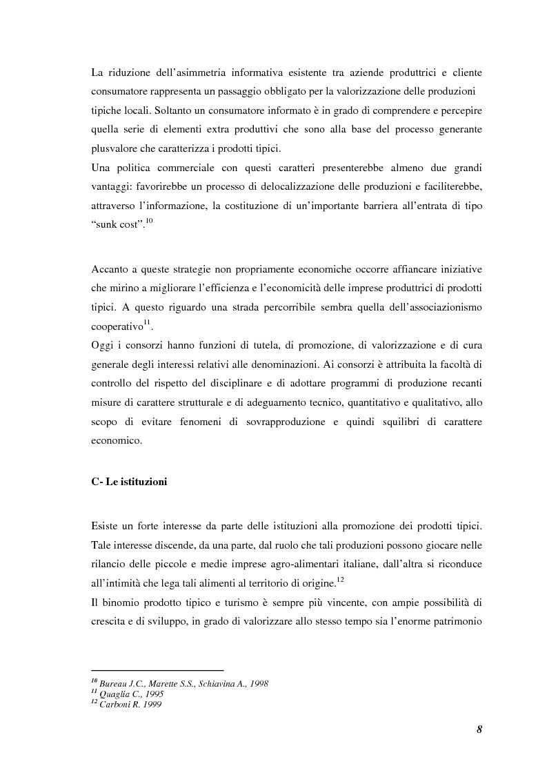 Anteprima della tesi: Prodotti tipici, azioni di marketing ed educazione alimentare: l'esperienza nelle scuole primarie di Reggio Emilia, Pagina 10