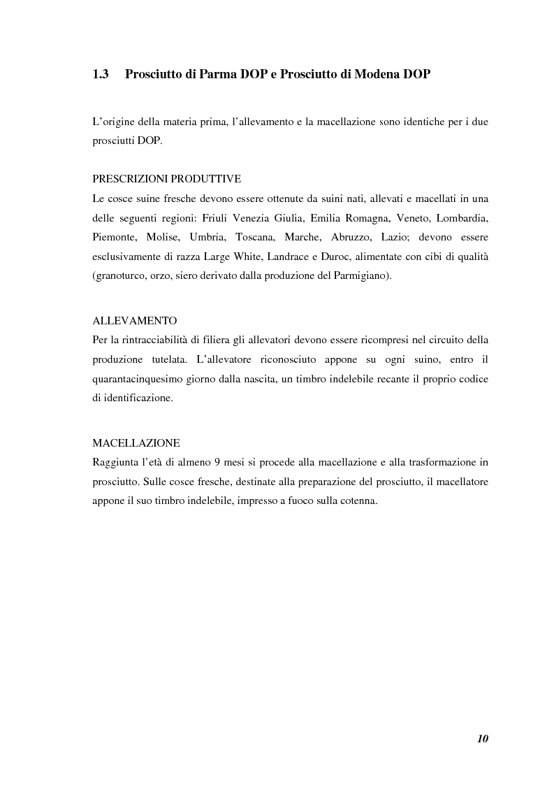 Anteprima della tesi: Prodotti tipici, azioni di marketing ed educazione alimentare: l'esperienza nelle scuole primarie di Reggio Emilia, Pagina 12