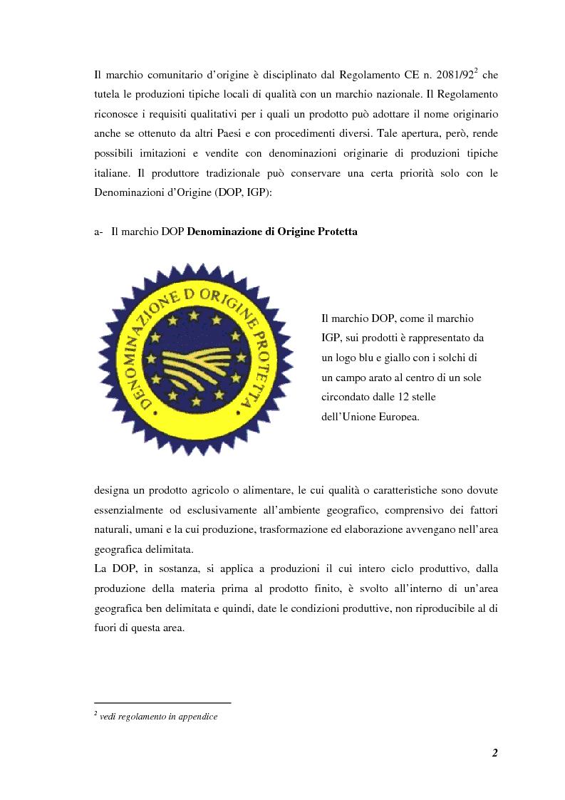 Anteprima della tesi: Prodotti tipici, azioni di marketing ed educazione alimentare: l'esperienza nelle scuole primarie di Reggio Emilia, Pagina 4
