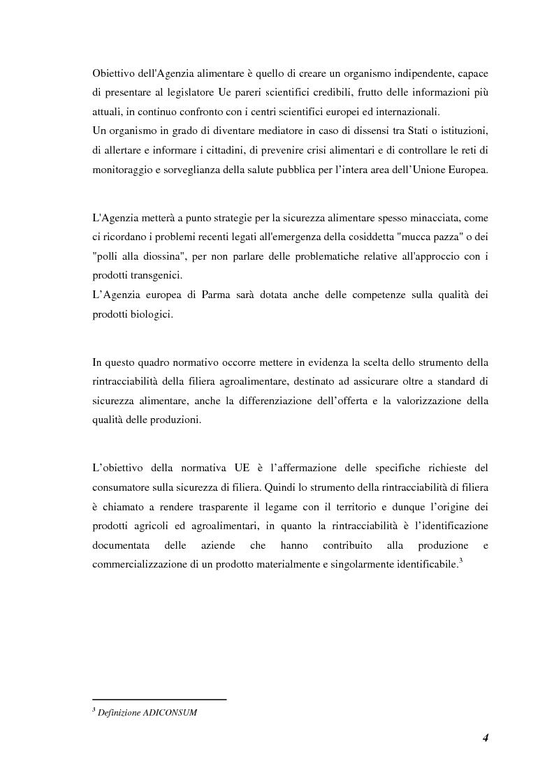 Anteprima della tesi: Prodotti tipici, azioni di marketing ed educazione alimentare: l'esperienza nelle scuole primarie di Reggio Emilia, Pagina 6