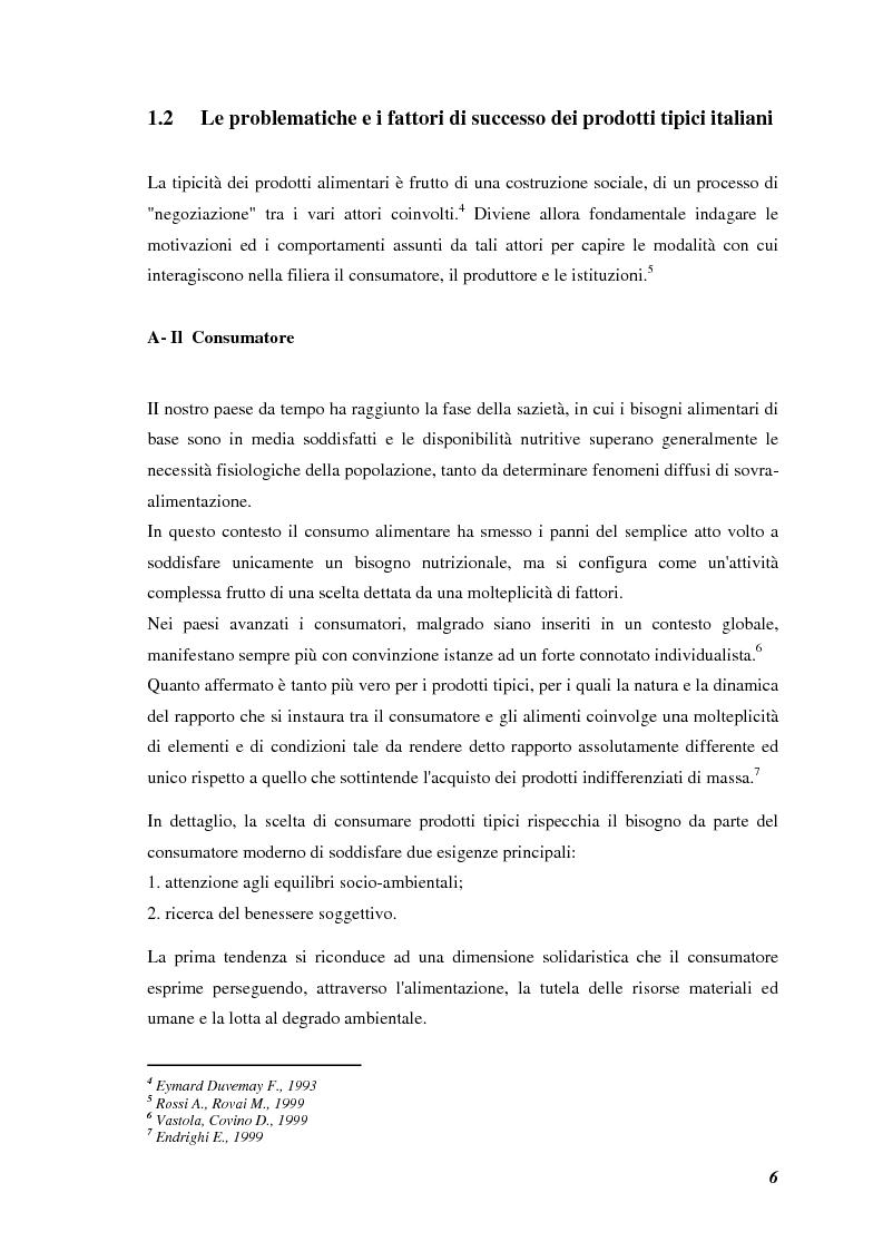 Anteprima della tesi: Prodotti tipici, azioni di marketing ed educazione alimentare: l'esperienza nelle scuole primarie di Reggio Emilia, Pagina 8