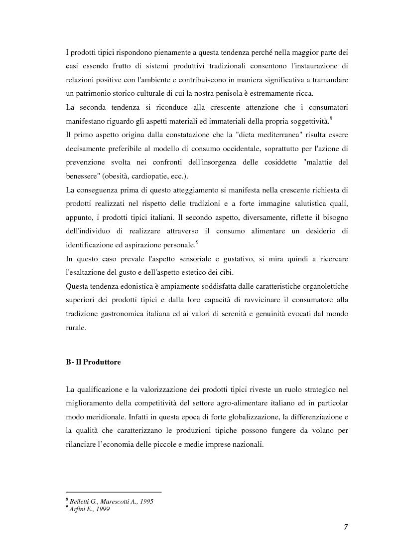 Anteprima della tesi: Prodotti tipici, azioni di marketing ed educazione alimentare: l'esperienza nelle scuole primarie di Reggio Emilia, Pagina 9