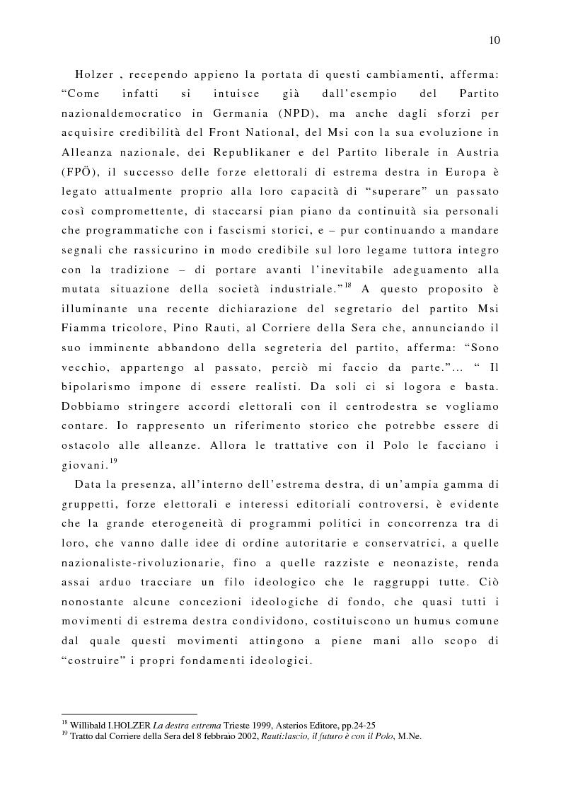 Anteprima della tesi: Il fenomeno naziskin. Analisi di una sottocultura giovanile., Pagina 10